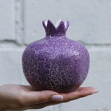 Посуда ручной работы. Ярмарка Мастеров - ручная работа Керамическая вазочка (гранат сиреневый большой). Handmade.