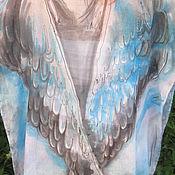 """Одежда ручной работы. Ярмарка Мастеров - ручная работа Туника-блуза хлопковая """"Мне бы в небо!"""" - батик. Handmade."""