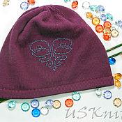 Аксессуары handmade. Livemaster - original item Easy knitted hat (beanie) pattern beaded. Handmade.