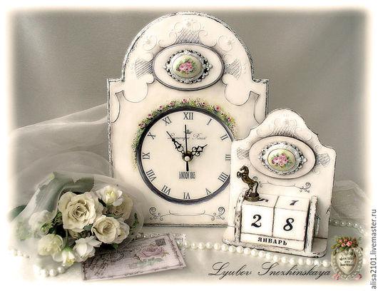 """Часы для дома ручной работы. Ярмарка Мастеров - ручная работа. Купить Shabby набор """"Время не властно"""". Handmade. Часы, Ладолл"""