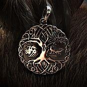 Русский стиль handmade. Livemaster - original item Tree of Life with birds (3,5 cm ). Handmade.