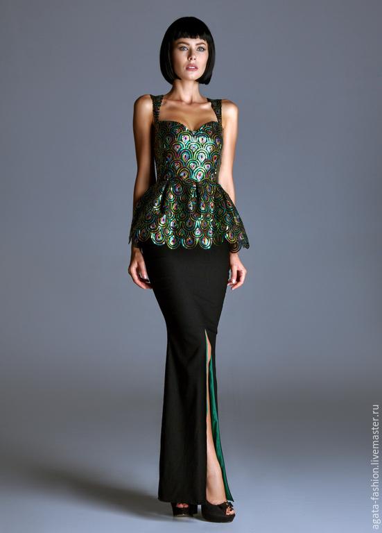 8f2f492aa145102 Платья ручной работы. Ярмарка Мастеров - ручная работа. Купить Вечернее  платье изумрудного цвета, ...