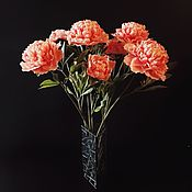 Цветы и флористика ручной работы. Ярмарка Мастеров - ручная работа Прекрасный букет. Пионы из полимерной глины (холодного фарфора). Handmade.