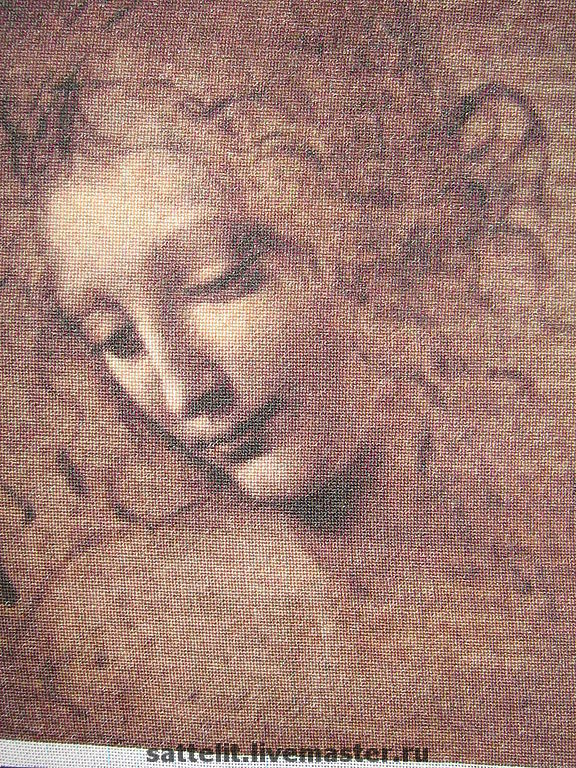 Карандашный рисунок Леонардо да Винчи Девушка с распущенными волосами, Картины, Москва,  Фото №1
