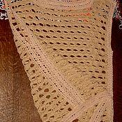 """Одежда ручной работы. Ярмарка Мастеров - ручная работа Оригинальный ажурный жилет крючком """"Элегия"""". Handmade."""