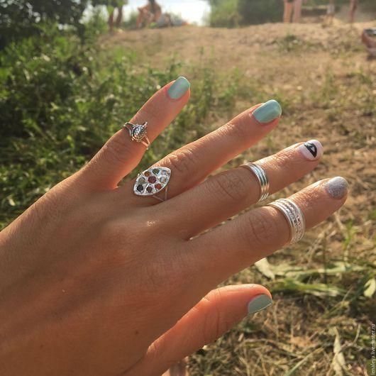 Кольца ручной работы. Ярмарка Мастеров - ручная работа. Купить Серебряное кольцо на ногу свободный размер. Handmade. Кольцо серебро