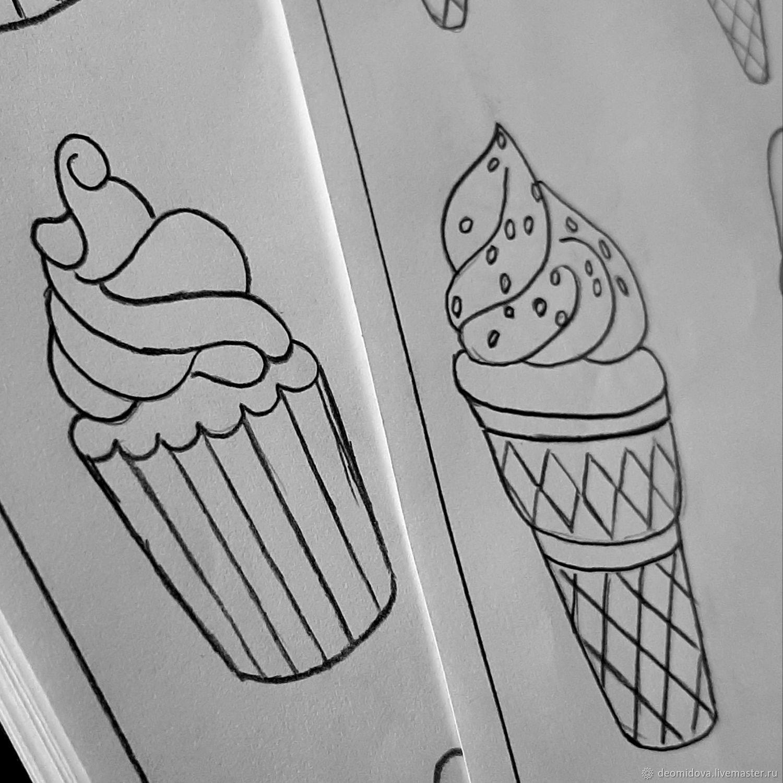 Выкройки для брошей сладости и фрукты, Выкройки для шитья, Новочеркасск,  Фото №1