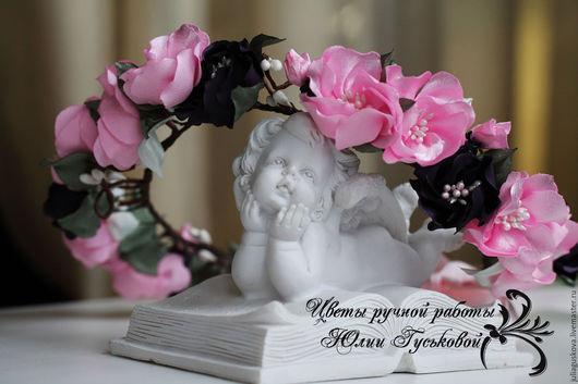 Свадебные украшения ручной работы. Ярмарка Мастеров - ручная работа. Купить Венок с цветами. Handmade. Бледно-розовый, венок с цветами