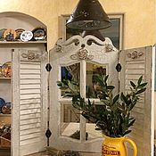 Для дома и интерьера ручной работы. Ярмарка Мастеров - ручная работа Зеркало  в стиле Прованс со ставнями. Handmade.