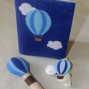 """Работы для детей, ручной работы. Ярмарка Мастеров - ручная работа Подарочный набор для мамы и малыша """"Воздушный шар"""". Handmade."""