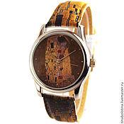 """Украшения ручной работы. Ярмарка Мастеров - ручная работа Дизайнерские наручные часы по мотивам Густава Климта """"Поцелуй"""". Handmade."""