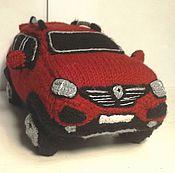 Куклы и игрушки ручной работы. Ярмарка Мастеров - ручная работа Вязаный автомобиль Рено. Handmade.