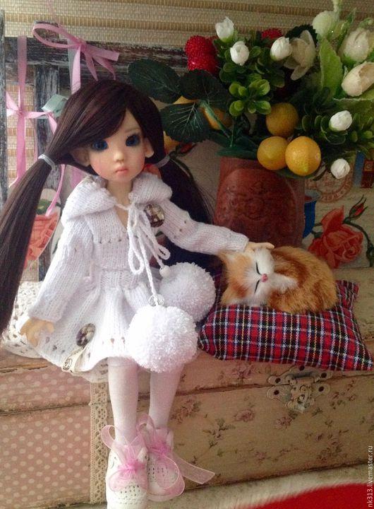 """Одежда для кукол ручной работы. Ярмарка Мастеров - ручная работа. Купить """"В гостях у бабули"""" костюм для куколки. Handmade. Белый"""