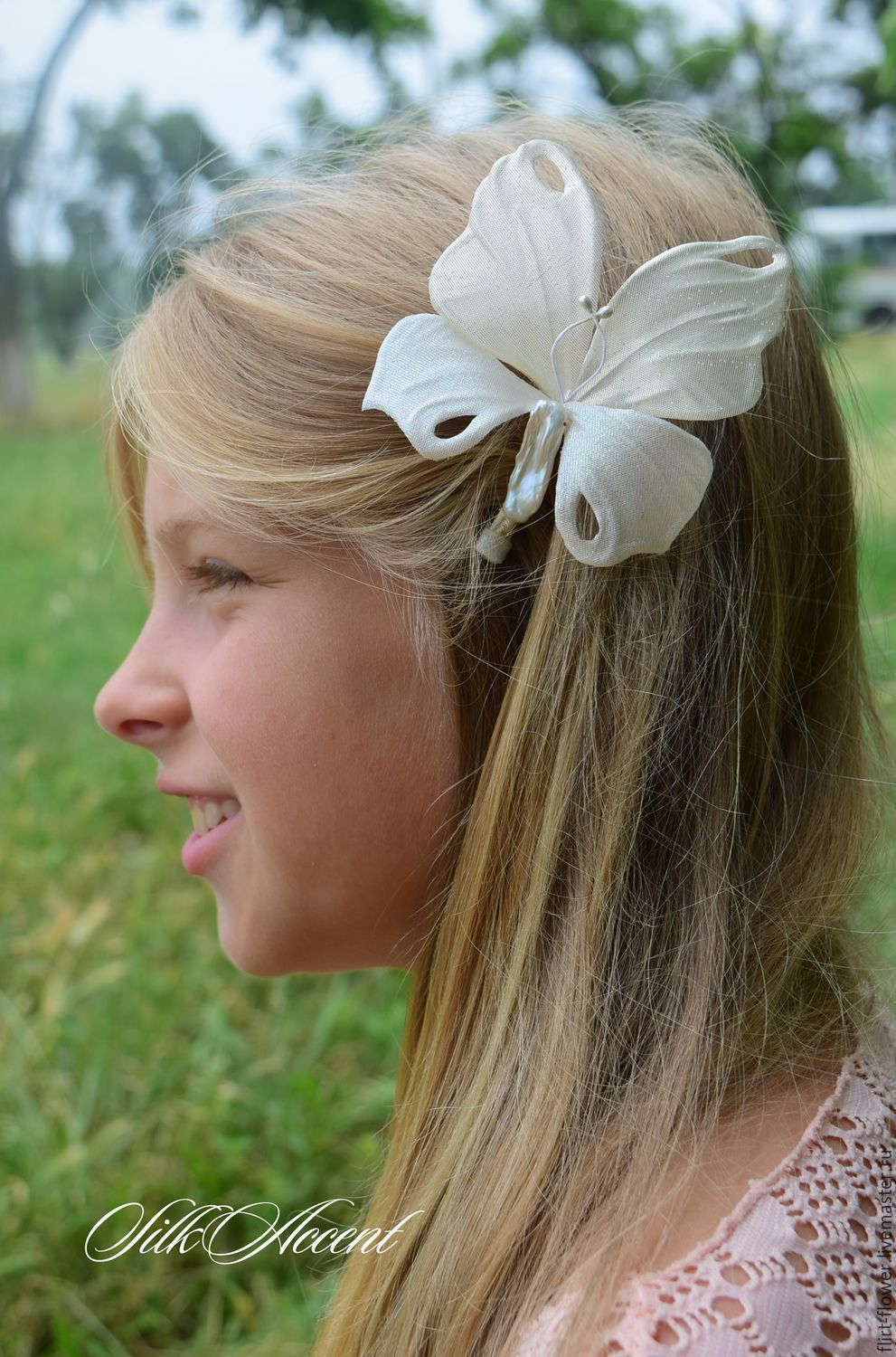 Butterfly Barrette Hair Clip Decorations Made Of Silk Shop Online