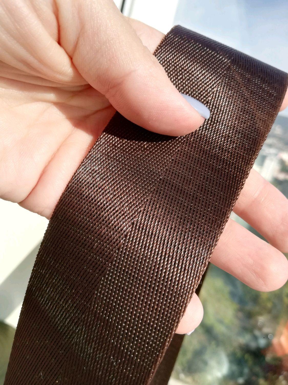 Стропа ременная 50 мм. Лента киперная. Цвет коричневый, Отделка для шитья, Сочи,  Фото №1