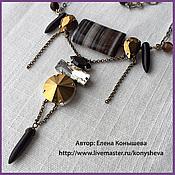 Украшения handmade. Livemaster - original item Necklace with rhinestones and spikes. Handmade.