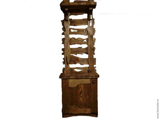 Прихожая ручной работы. Ярмарка Мастеров - ручная работа. Купить мебель для прихожей. Handmade. Коричневый, дерево