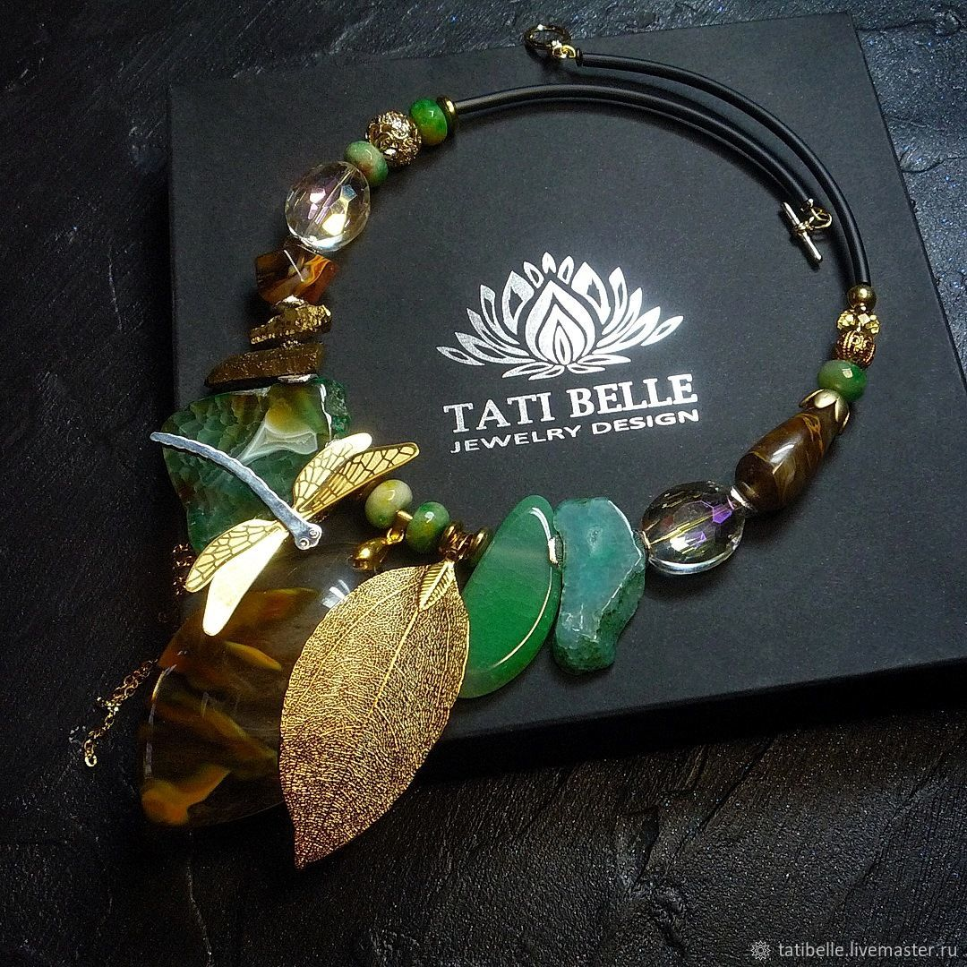Necklace of natural stones 'Time of Magic', Necklace, Moscow,  Фото №1
