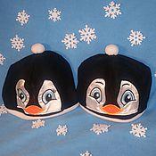 Работы для детей, ручной работы. Ярмарка Мастеров - ручная работа Шапка Пингвин - пингвинёнок. Handmade.