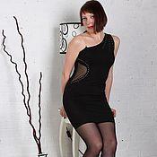 Одежда ручной работы. Ярмарка Мастеров - ручная работа Чёрное Трикотажное платье. Handmade.