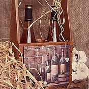 """Для дома и интерьера ручной работы. Ярмарка Мастеров - ручная работа Короб для вина """"Старый погреб"""". Handmade."""