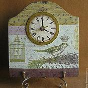 """Для дома и интерьера ручной работы. Ярмарка Мастеров - ручная работа Часы """"Королевская птичка. Lizzy"""". Handmade."""