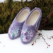 """Обувь ручной работы. Ярмарка Мастеров - ручная работа Валяные тапочки """"Уютные"""". Handmade."""