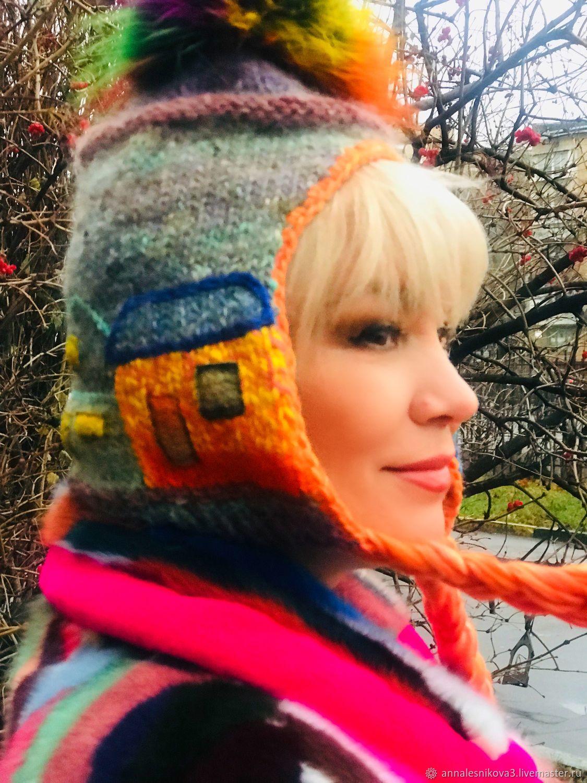 "Шапка Арт-шлем-капор""ЛЮБИМЫЕ ДОМИКИ-3», Шапки, Москва,  Фото №1"