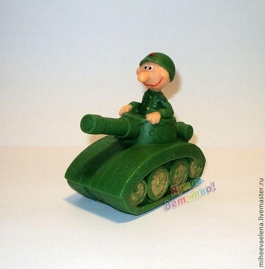 """Мыло ручной работы. Ярмарка Мастеров - ручная работа. Купить Мыло к 23 февраля """"Танкист"""". Handmade. Тёмно-зелёный"""