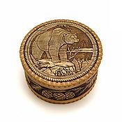 Для дома и интерьера handmade. Livemaster - original item Box of birch bark big Bear. The product of birch bark. Handmade.