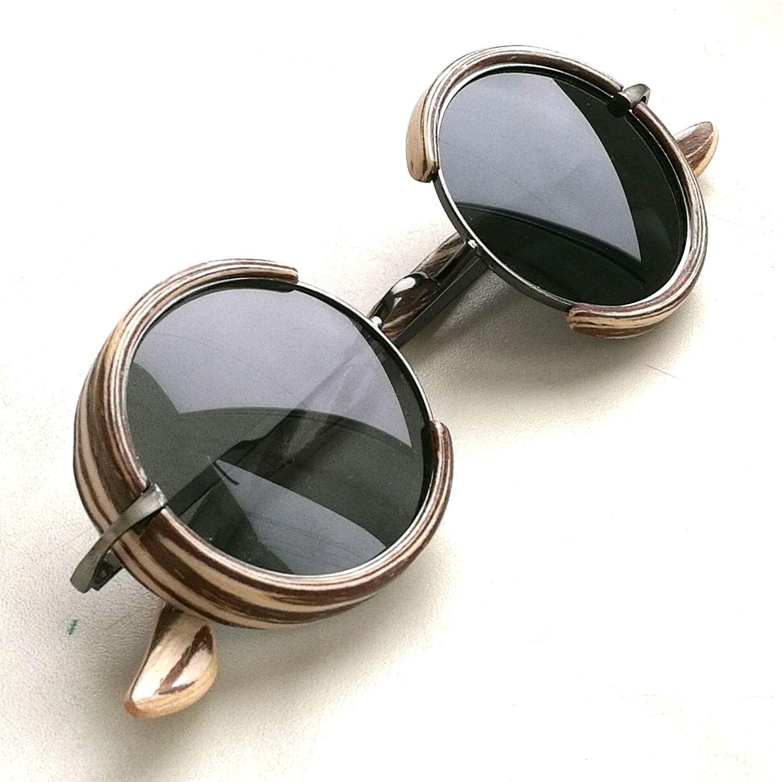 Очки ручной работы. Ярмарка Мастеров - ручная работа. Купить Солнцезащитные очки 204 зебрано. Handmade. Деревянные очки, дерево