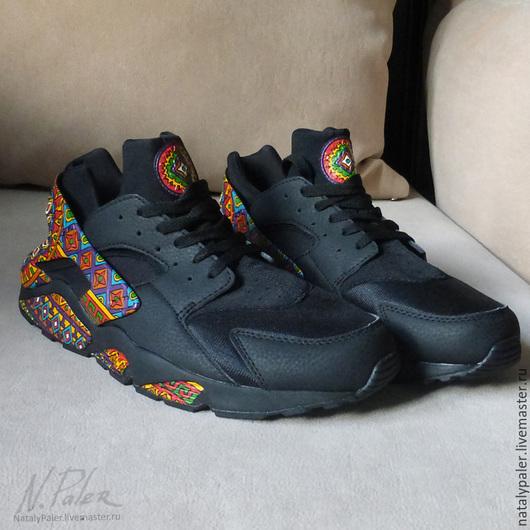 """Обувь ручной работы. Ярмарка Мастеров - ручная работа. Купить Роспись по обуви. Кроссовки """"Mexico"""". Handmade. Разноцветный, роспись обуви"""
