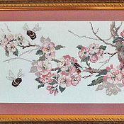 """Картины и панно ручной работы. Ярмарка Мастеров - ручная работа Вышитая крестом картина """"Весна"""". Handmade."""