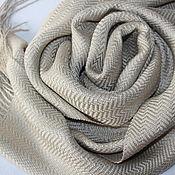 Аксессуары handmade. Livemaster - original item Woven scarf handmade. Silk-linen.. Handmade.
