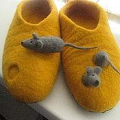 """Обувь ручной работы. Ярмарка Мастеров - ручная работа Тапочки """"Жадные мышки"""". Handmade."""