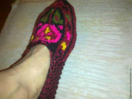 Обувь ручной работы. Ярмарка Мастеров - ручная работа. Купить Джурабы шерстяные.   Вязанные носки. Домашние тапочки.. Handmade.