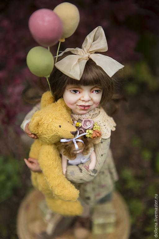 """Коллекционные куклы ручной работы. Ярмарка Мастеров - ручная работа. Купить авторская кукла""""день рождения"""". Handmade. Куклы, интерьерная кукла"""