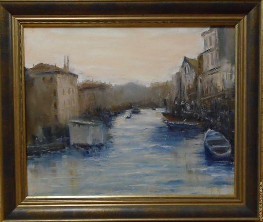 Город ручной работы. Ярмарка Мастеров - ручная работа. Купить Венецианский пейзаж. Handmade. Комбинированный, картина на холсте, город, масло