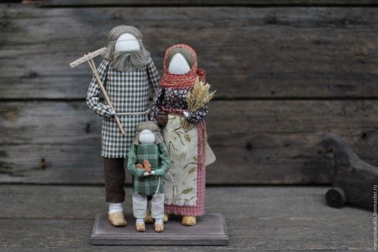 """Народные куклы ручной работы. Ярмарка Мастеров - ручная работа. Купить Кукла """"Семья"""". Handmade. Оберег, народная кукла, разноцветный"""