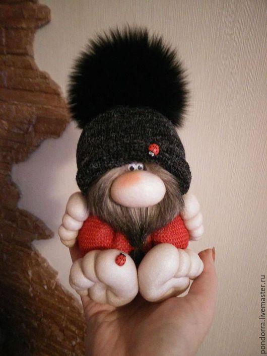 Сказочные персонажи ручной работы. Ярмарка Мастеров - ручная работа. Купить Чулочная кукла.  Мягкий гном - домовёнок. Handmade. Гномик