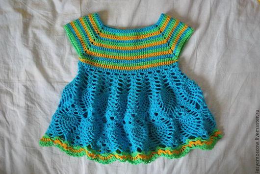 Одежда для девочек, ручной работы. Ярмарка Мастеров - ручная работа. Купить Летнее платье. Handmade. Платье, для девочки, ажурное