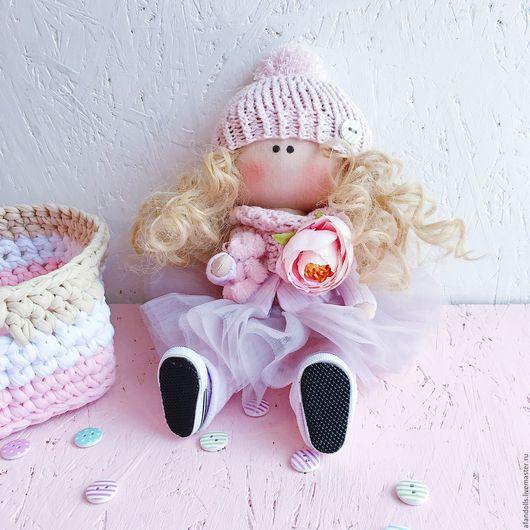 Куклы тыквоголовки ручной работы. Ярмарка Мастеров - ручная работа. Купить Интерьерная кукла 25 см. Handmade. Бледно-сиреневый
