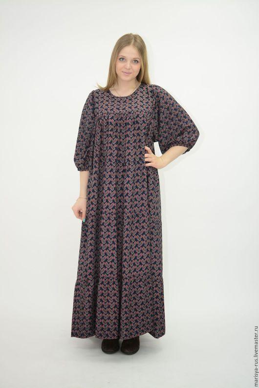 """Одежда ручной работы. Ярмарка Мастеров - ручная работа. Купить Платье классика """"Нарядное"""". Handmade. Тёмно-синий, длинное платье"""
