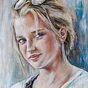 Картины и панно handmade. Livemaster - original item Portrait of a girl. Handmade.