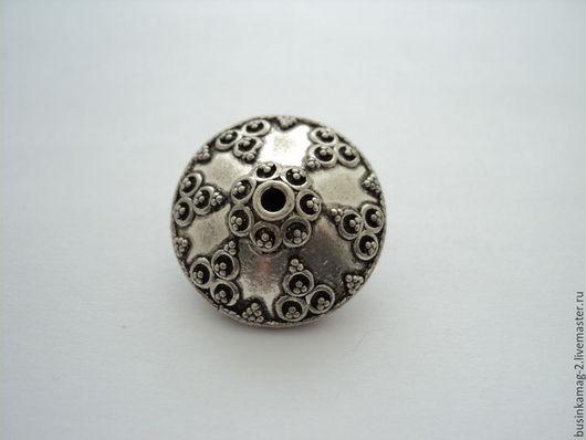Для украшений ручной работы. Ярмарка Мастеров - ручная работа. Купить Бусины крупные серебро 925 проба 23мм. Handmade.