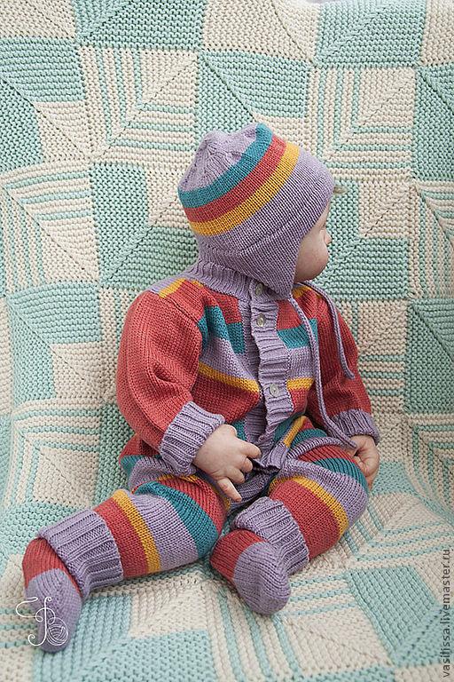 Вязаный комбинезон для малышей. Попова Елена Игоревна вязание для детей