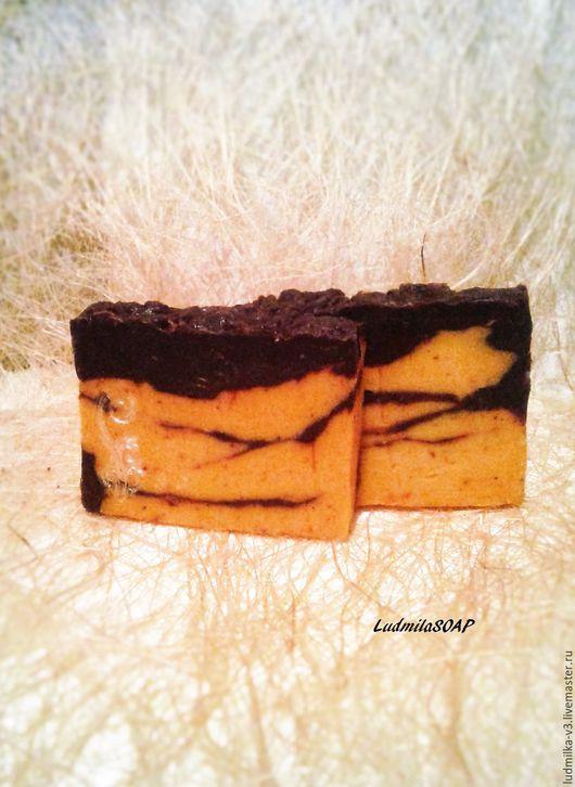 """Мыло ручной работы. Ярмарка Мастеров - ручная работа. Купить Мыло с нуля """" Шоколад и апельсин """". Натуральное мыло. Handmade."""