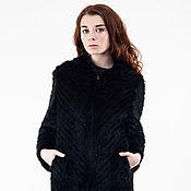 Одежда handmade. Livemaster - original item Coat of knitted mink