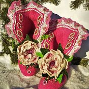 Обувь ручной работы handmade. Livemaster - original item Home felt Slippers