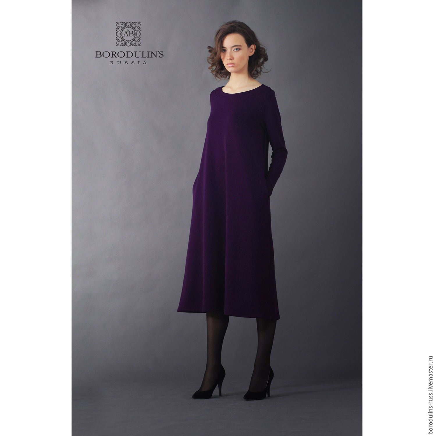 Jersey dress, colors violets, Dresses, Moscow,  Фото №1